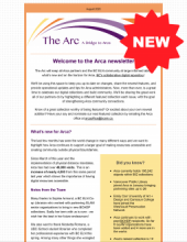 Image of the Arc, Arca's new newsletter