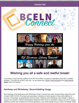 Image of the BC ELN Connect December 2020 Issue